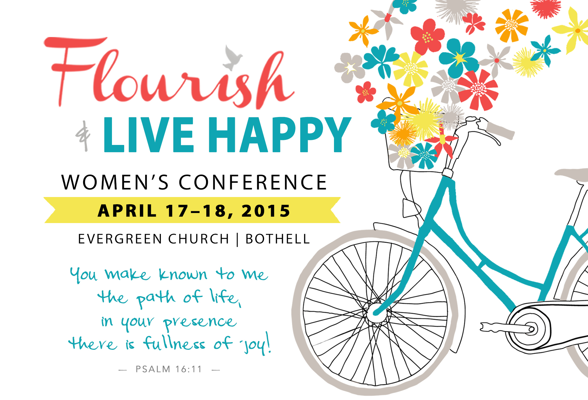 2015 Flourish and Live Happy Postcard Front