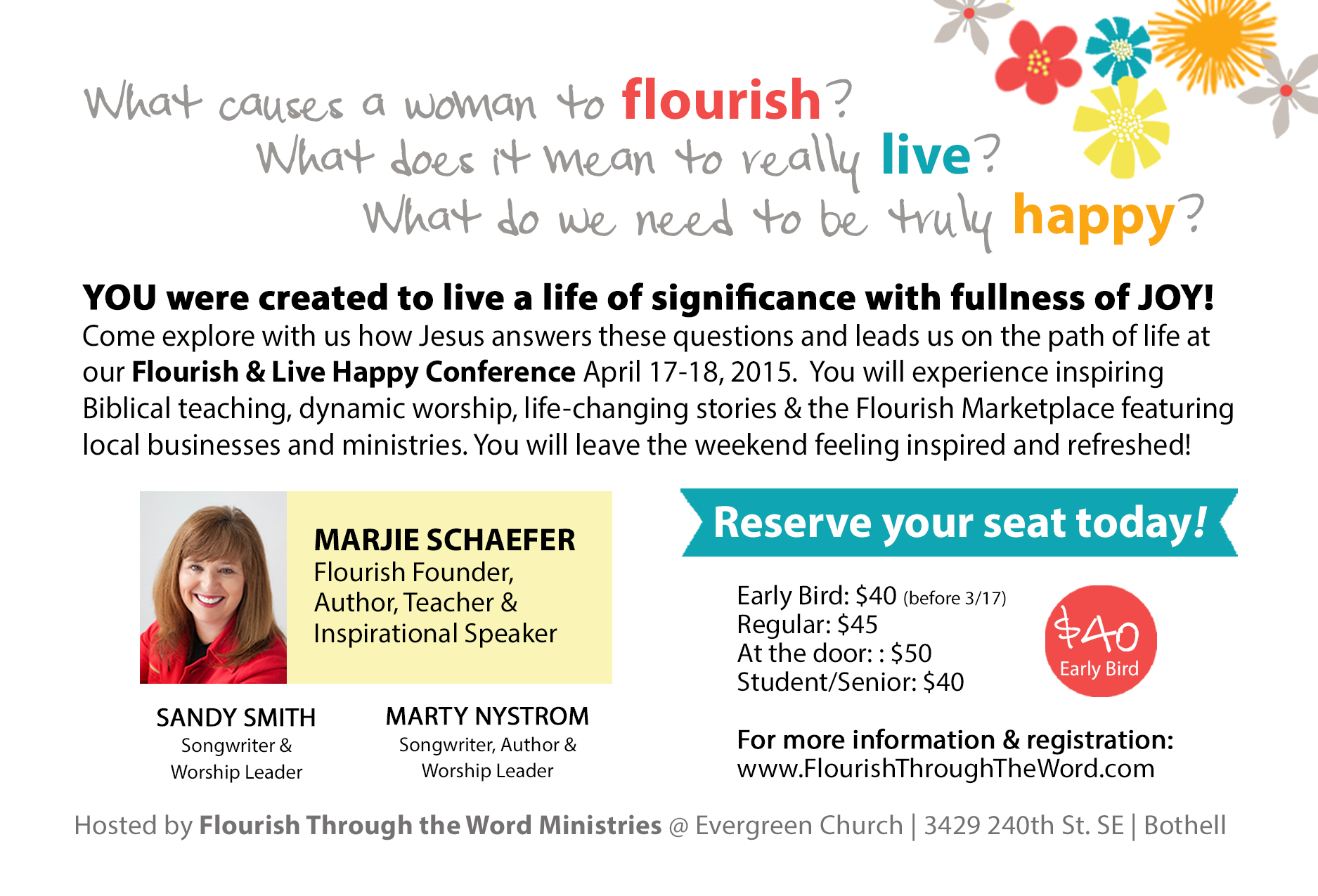 2015 Flourish and Live Happy Postcard Back