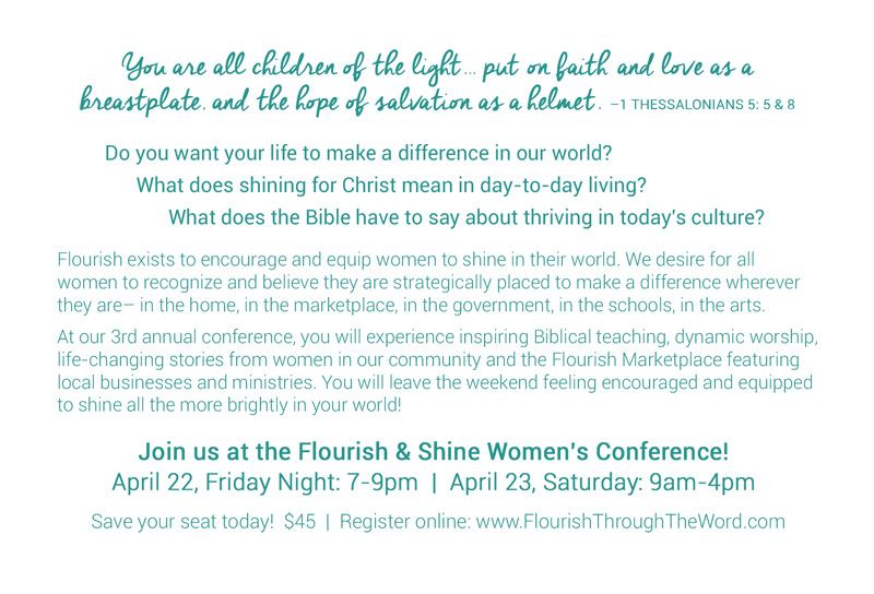 2016 Flourish and Shine Postcard Back